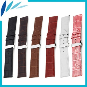 Genuine Leather Watch Band 20mm 22mm for Ticwatch 1 2 42mm 46mm Men Women Strap Wrist Loop Belt Bracelet Black Brown Red White