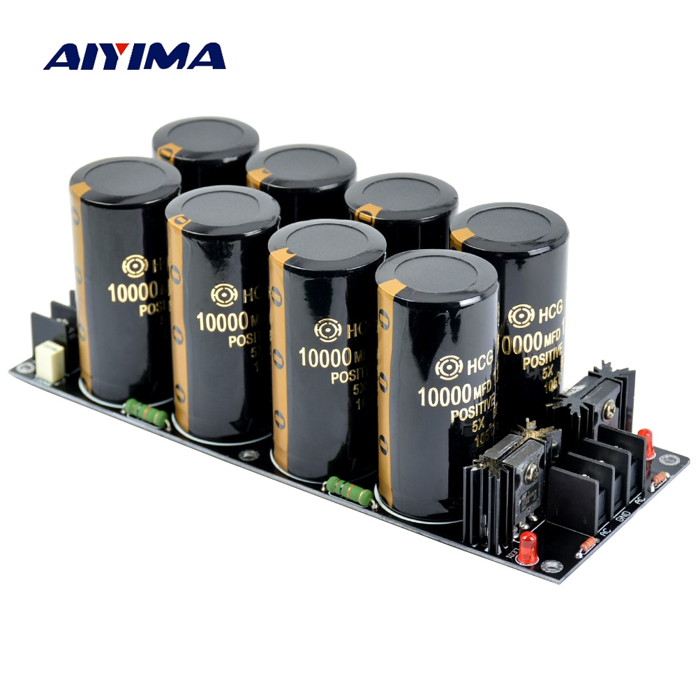 AIYIMA 120A Amplifier Rectifier Filter Supply Power Board High Power Schottky Rectifier Filter Power Supply Board 10000uf 125V diy pcb board for 62pcs capacitor array power supply rectifier board