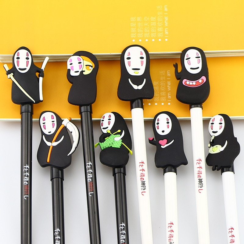 1 Uds Corea papelería Hayao Miyazaki pluma de Gel lindo creativo pluma estilográfica Qian y Chihiro dibujo de cara-menos hombres