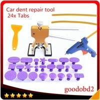 car tools set paintless dent repair car dent removal hand tool set hot melt glue sticksglue gun 100w with tabs 24x shape