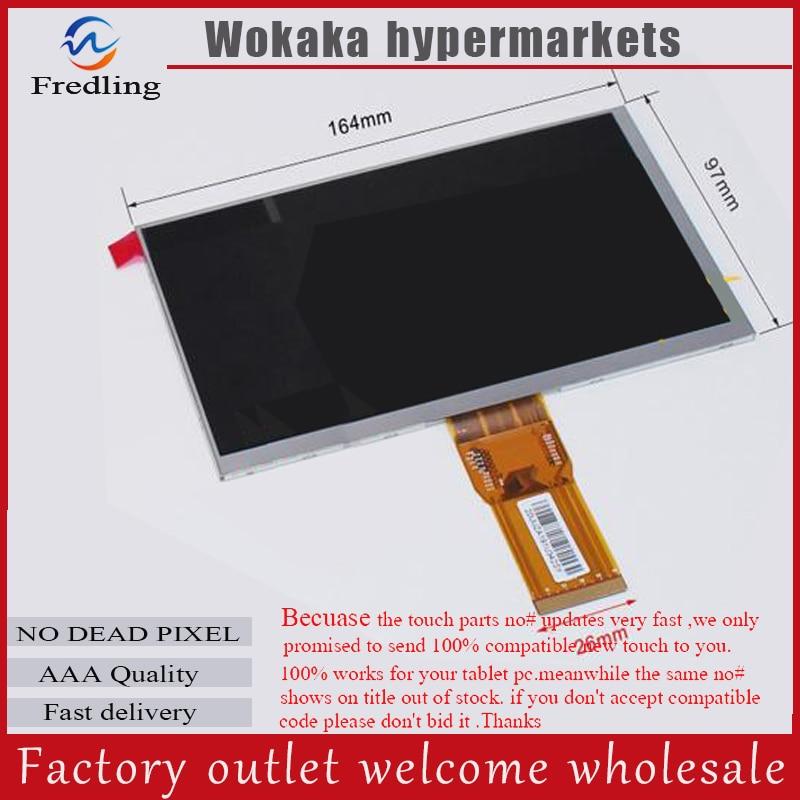 "LCD-Display 7 ""Wexler. tab 7b TABLET CPT7D37DB XC070XY 1024*600 TFT LCD Bildschirm Matrix Panel Objektiv Betrachtung Modul Kostenloser Versand"