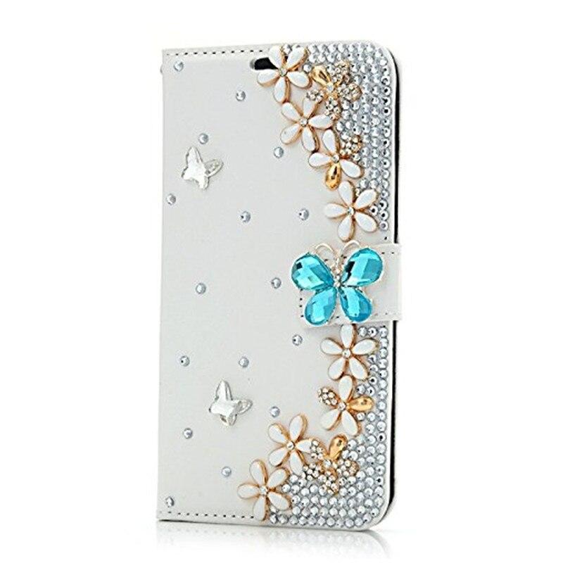 Bling PU Leder Brieftasche Diamant Schmetterling telefon Fall für Samsung Galaxy note 10 pro 9 8 5 4 3 S6 s7 rand S8 S9 plus S10 S10E