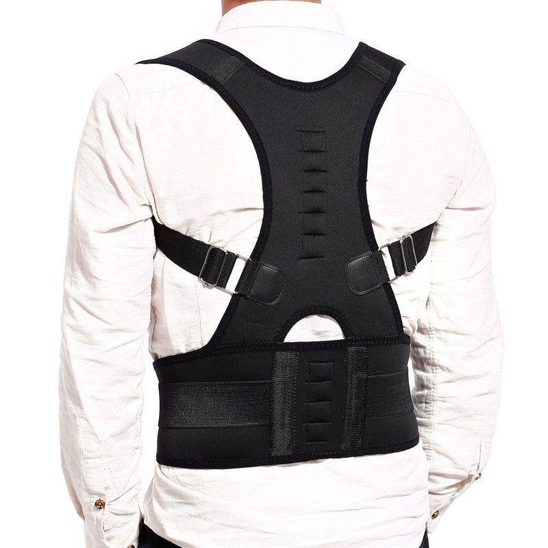 Soporte Lumbar femenino masculino Corrector recto de espalda cruzada ajustable Corrector de postura magnética corsé cinturón trasero S-XXL