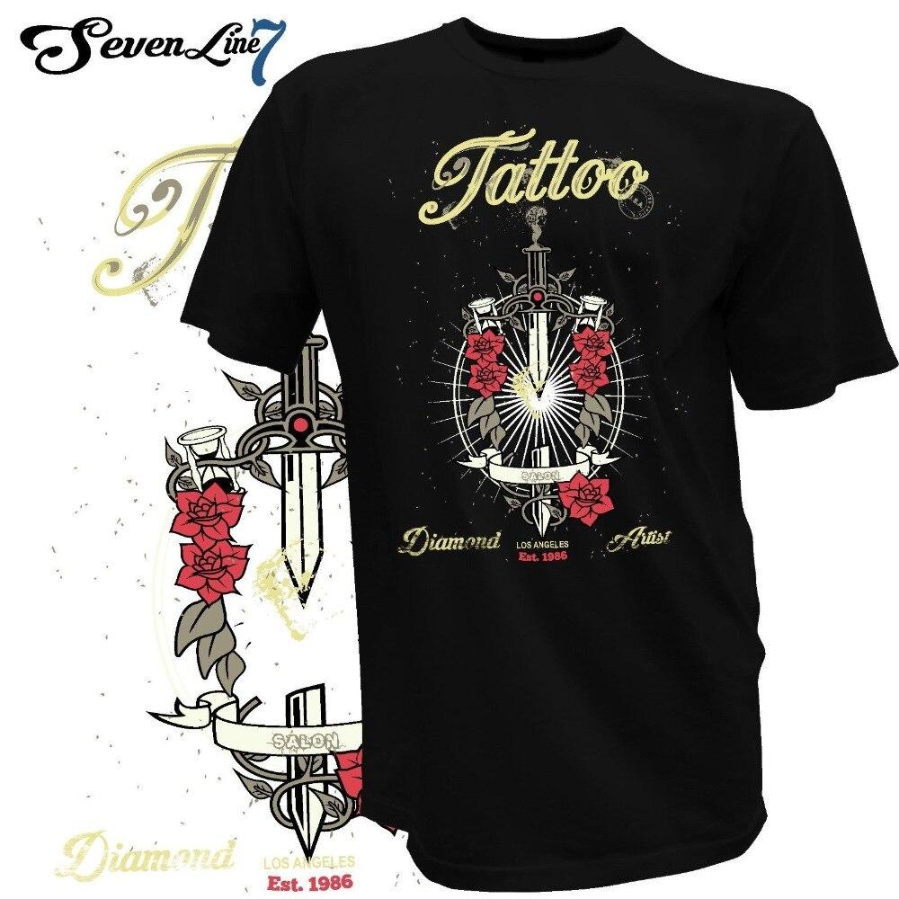 2019 camiseta de moda caliente tatuaje Herren Tatowierer Tattoomaschine calavera Los Angeles Yakuza 1344 camiseta