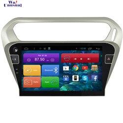 WANUSUAL 10.2 Android 6.0 Jogador Rádio Do Carro para Citroen Elysee para Peugeot 301 2014 2015 2016 2017 Com GPS BT 3G Wifi 1024*600
