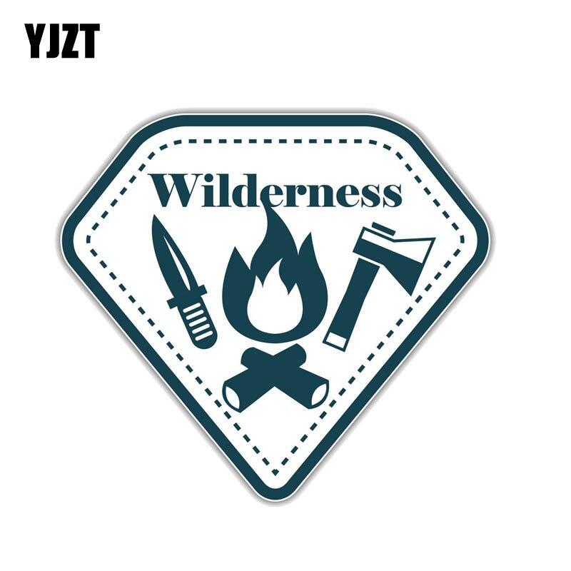 YJZT, 15,2 CM x 14CM, naturaleza, montaña, senderismo, acampada, escalada, PVC, pegatina para motocicleta, coche, 11-00773