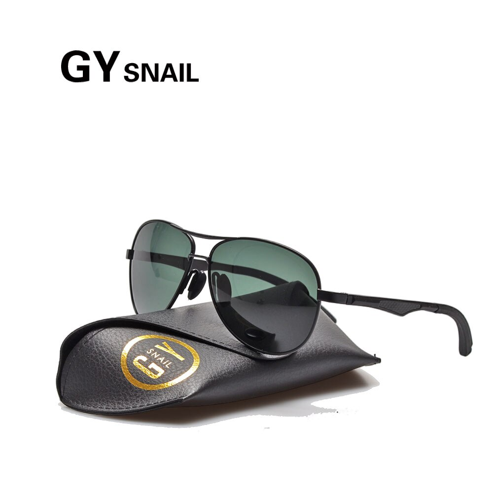 GYsnail Pilot Polarized Sunglasses Men Women Al-Mg Lightweight Frame Sun glasses For Male Mirror Classic Shades Driving Fishing