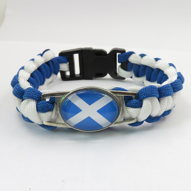 Pulseras de la Bandera Nacional de Escocia del amor de moda brazalete de Escocia hecho a mano ornamento de mujeres y hombres brazalete de la bandera de Escocia