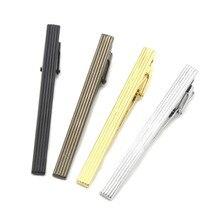 Doreenpearl pince à cravate pour homme   À la mode, en métal coloré, rayures verticales simples, quatre couleurs, breloques daffaires, Tiebar, 1 pièce