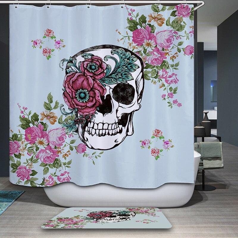 3d Skull Waterproof & Mildewproof  Shower Curtain Bathroom Curtain Eco-Friendly Fabric-shower-curtain