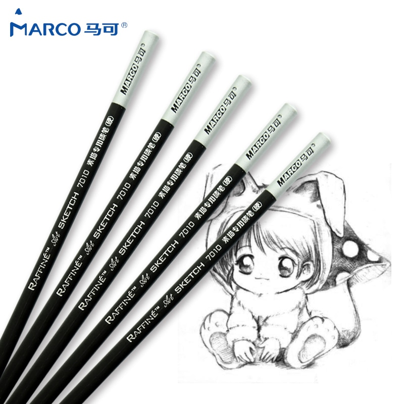 Marco 12 pçs ofício lápis padrão não-tóxico desenho esboçar lápis conjunto para escola estudante esboço presente artigos de papelaria arte suprimentos