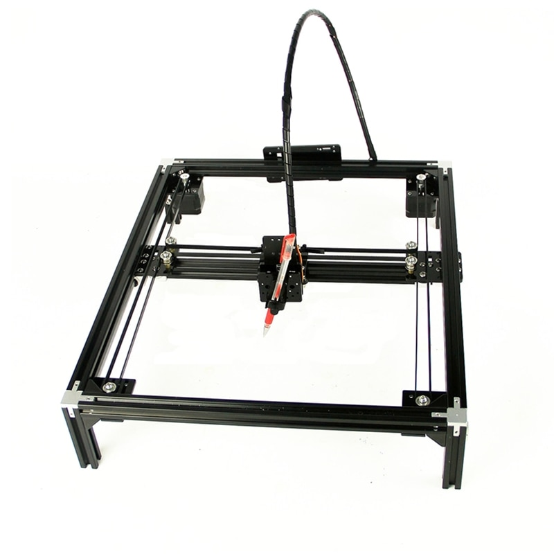 DIY LY drawing writing robot machine lettering corexy guide rail version A4 A3 engraving area frame plotter robot kit Christmas enlarge
