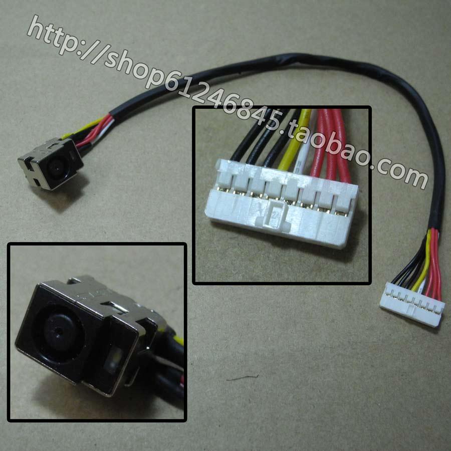 Frete grátis Para HP Pavilion HDX HDX X16 HDX16 X18 HDX18 com linha de cabeçalho conector de alimentação