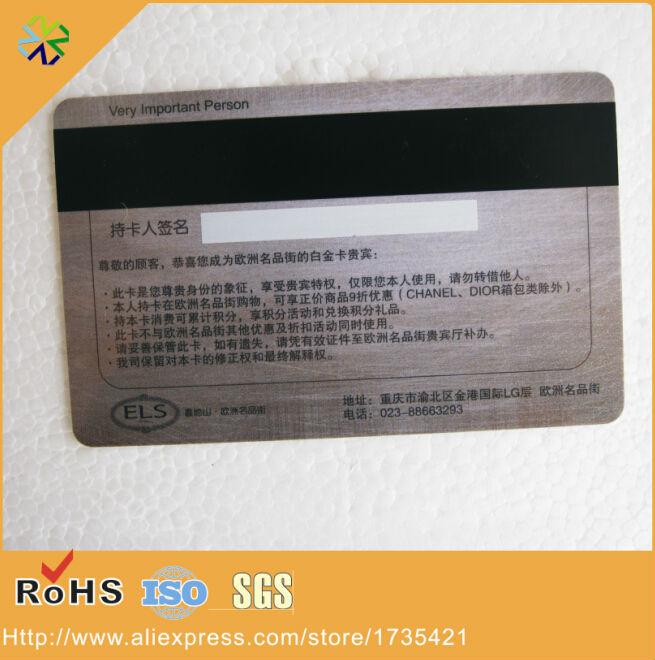Preço de fábrica 5000 pçs/lote CR80 plástico rígido pvc ambos os lados impressão de cartão magnético com preto hich-co tira magnética painel