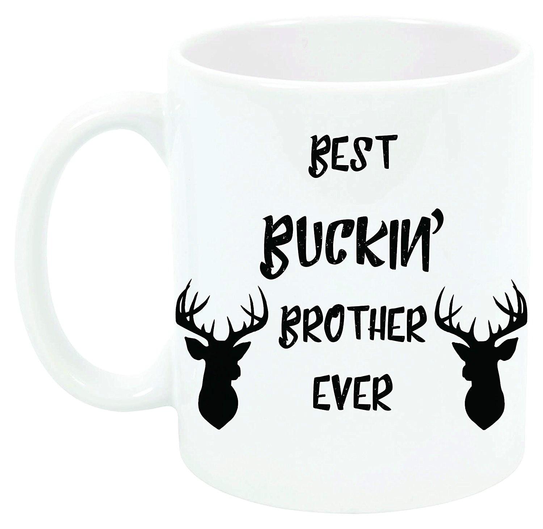 Mejor BUCKIN hermano 11 café de cerámica oz taza regalo