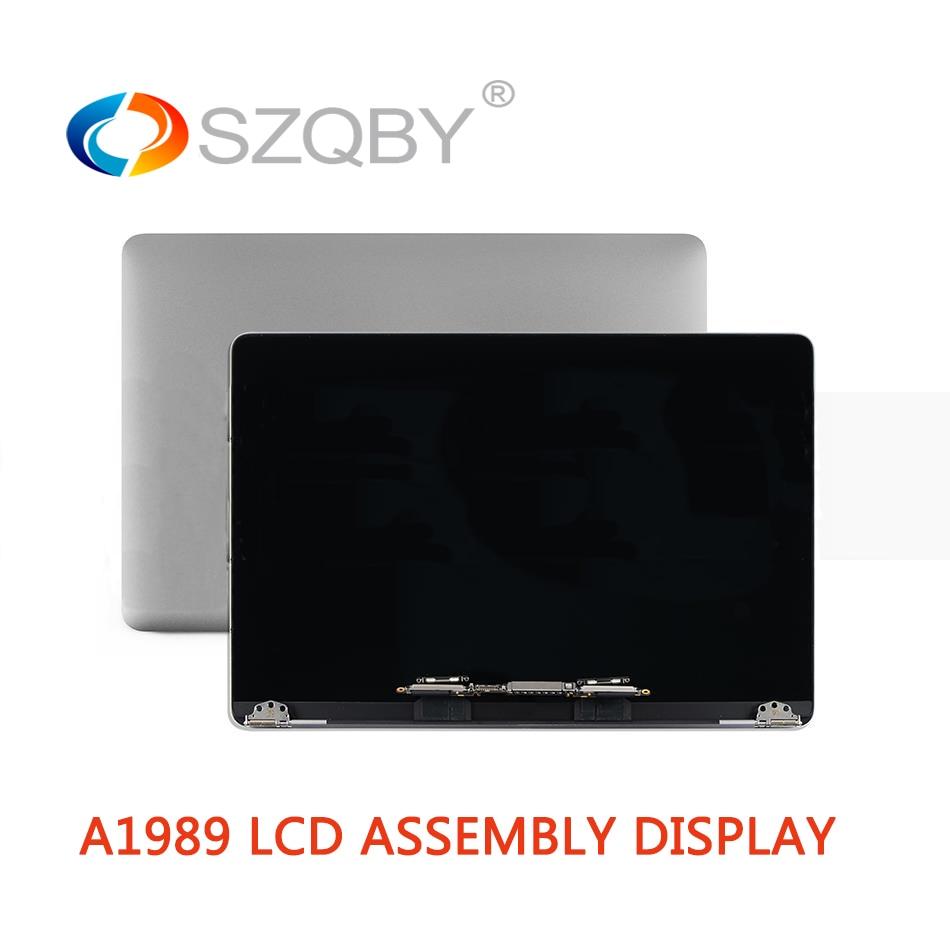 """Genuine Nova Tela Lcd Assembléia Completa para MacBook Pro Retina 13 """"A1989 2018 com Cinza/Cor Prata MR9Q2 EMC 3214"""