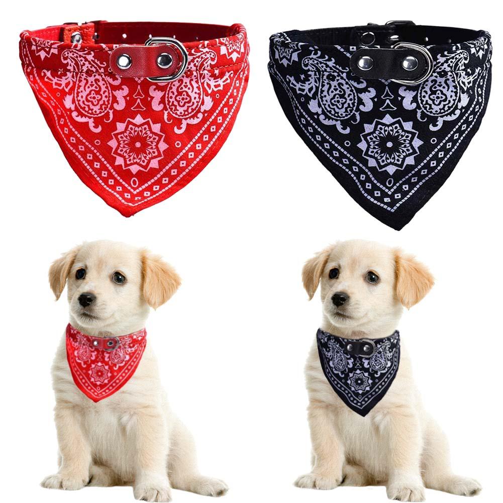 Lindo ajustable pequeña perro collares para perrito mascota Baba toalla al aire libre gato dibujo de cuello bufanda diseño Collar de perro S-XXL pañuelo