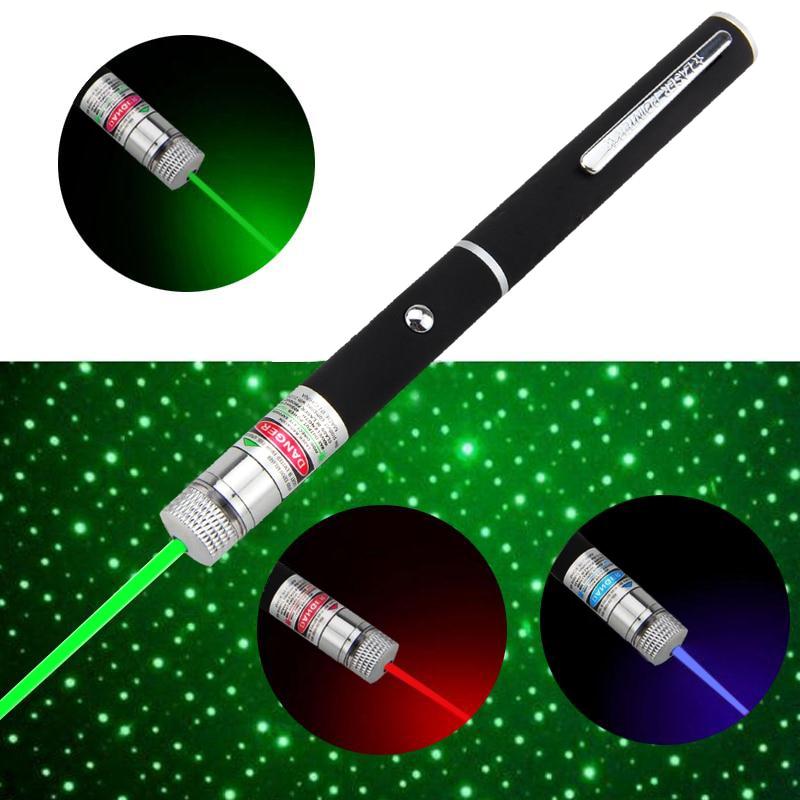 Potente lámpara de puntero láser rojo/Verde/morado de 3 colores luz led láser de 1MW láser 532nm LED para lámpara de caza