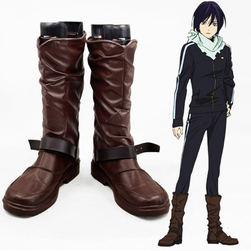 أحذية جلدية للرجال والنساء من Anime Noragami Yato Cosplay