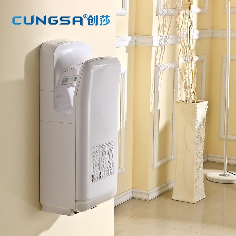 Secador de manos de alta velocidad para baño, diseño de creación, inducción automática, rápido, inteligente, máquina de soplado, herramienta de secado de manos móvil