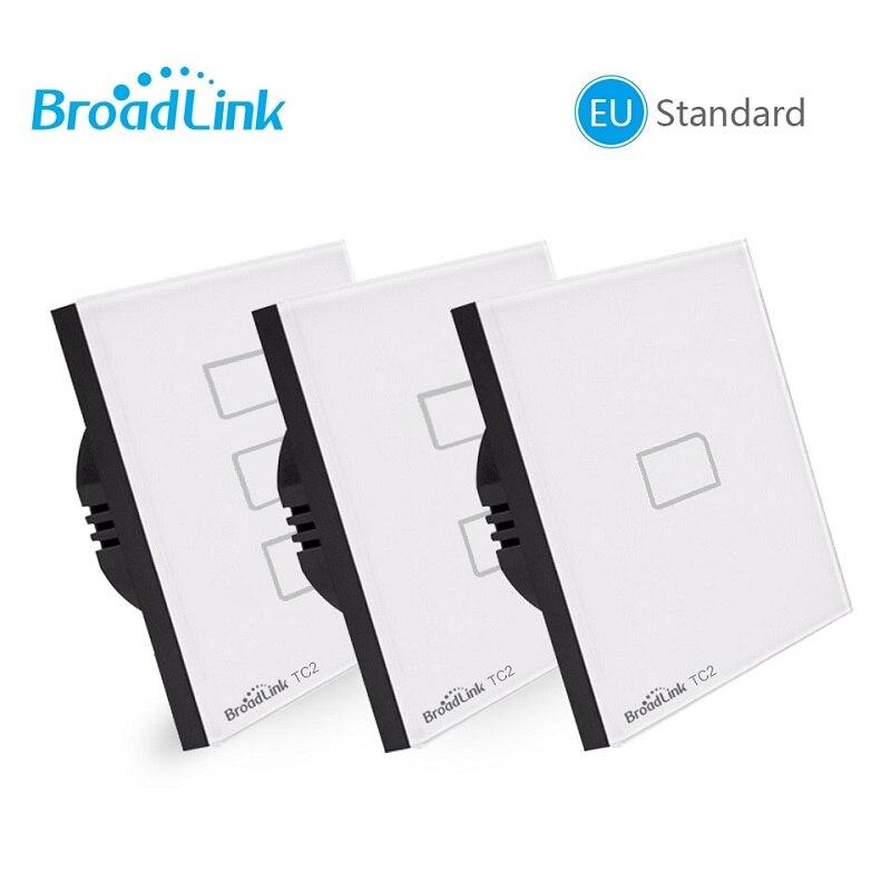 Broadlink TC2 ab standardı 1 2 3 gang opsiyonel, mobil uzaktan ışık lamba duvar anahtarı ile broadlink rmpro, kristal cam, domotica