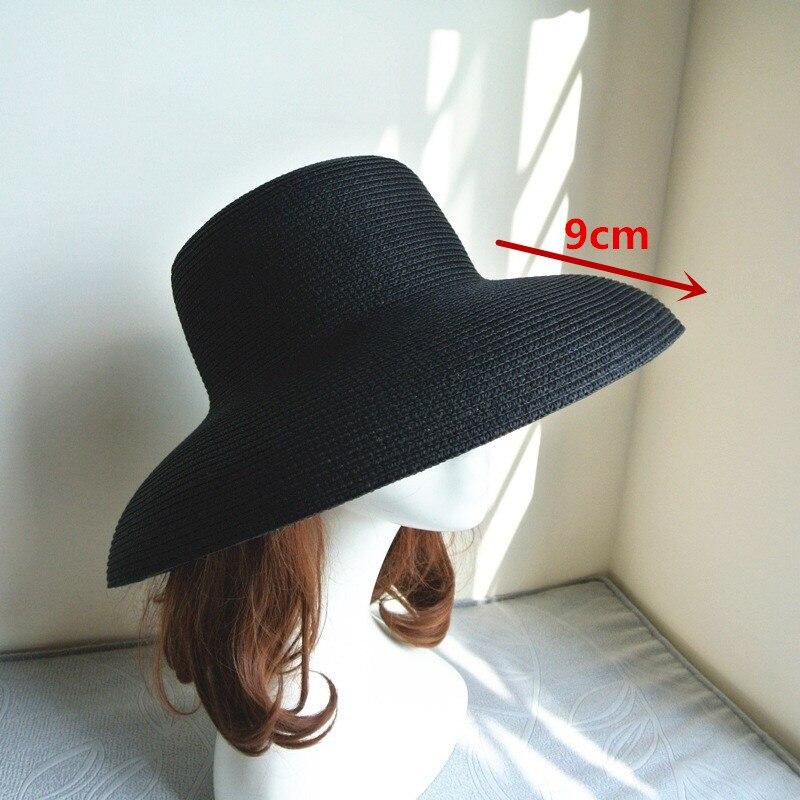 01811-axi British summer chimney Modelling French style Hepburn elegant  lady straw leisure cap women bucket hat wholesale