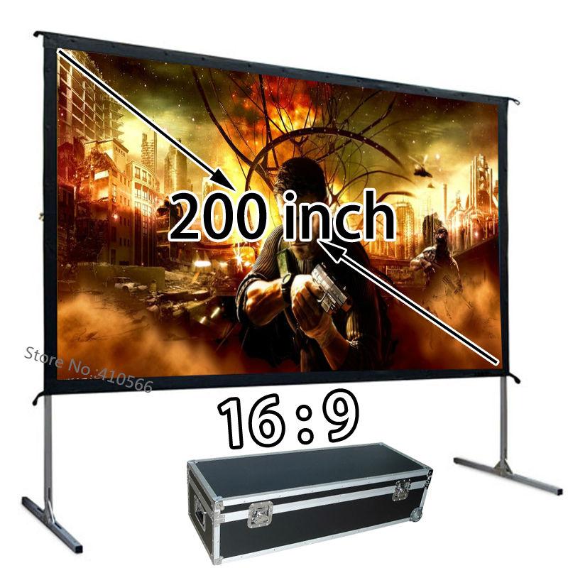 Проекционный экран HD по оптовой цене, 200 дюймов, 169, быстрая установка, уличные киноэкраны, используются для школьных совещаний