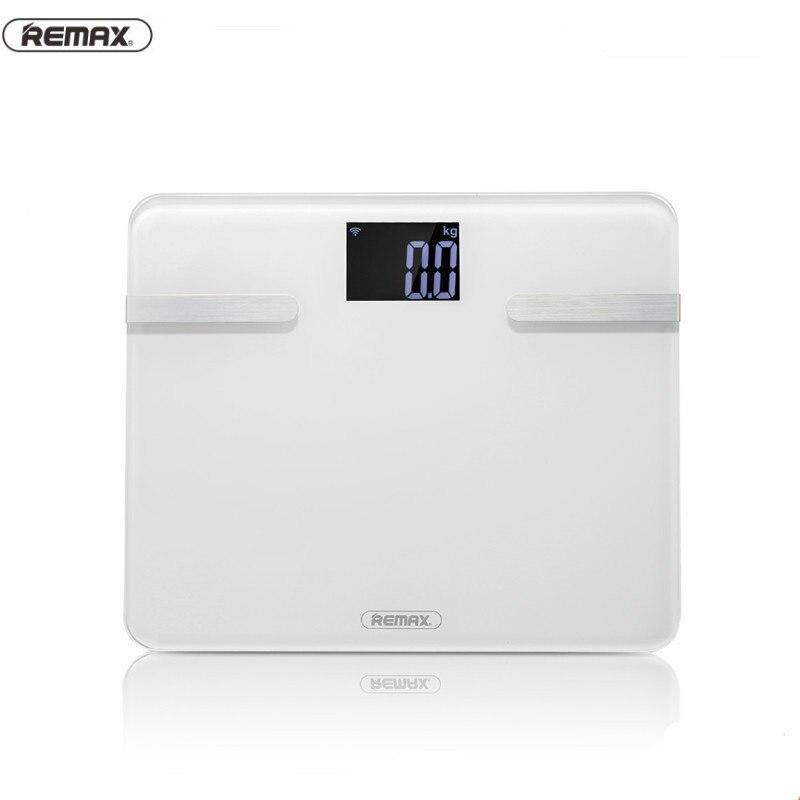 Báscula de peso corporal Remax Original caliente báscula de peso grasa suelo inteligente Bluetooth BMI cuerpo grasa inteligente báscula Digital mi báscula de peso Waga