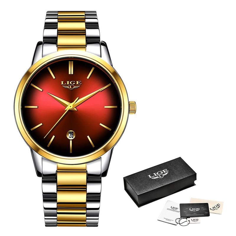 LIGE New Womens Business Quartz Watch Ladies Brand Top Luxury Ladies Watch Small Dial Thin Section Girl Clock Relogio Feminino enlarge