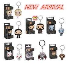 Funko Pop jeu de trônes thème porte-clés poche Pop Action Figure jouets Tyrion nuit roi fantôme porte-clés vinyle poupée porte-clés cadeau