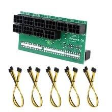 Placa adaptadora de fuente de alimentación de 50CM DPS-1200FB + Cables de 6 pines para minería Ethereum