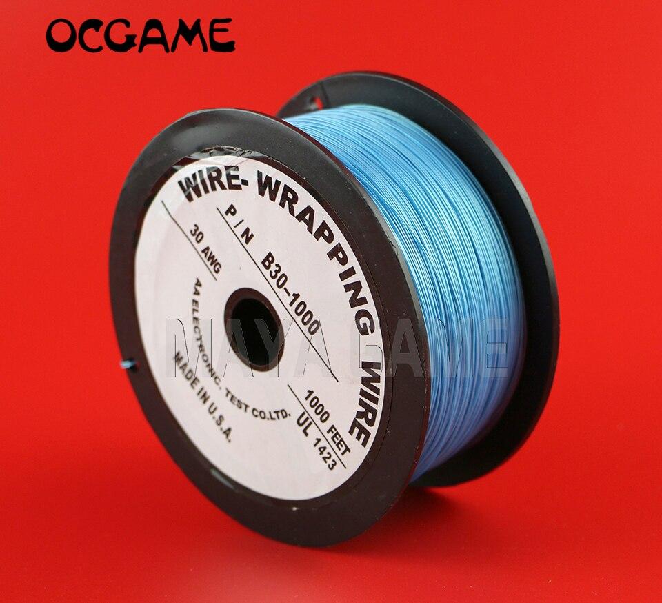 7 OCGAME alta qualidade cores PCB Solda Núcleo Flexível Fio Wrapping 30AWG 1000Ft