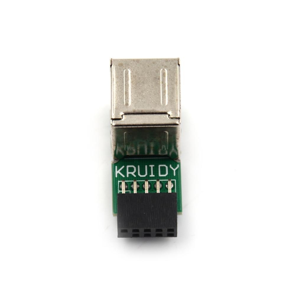 Usb 2.0 9pin para 2 pc caso host placa interna porta usb uma fêmea divisor conversor placa pcb extensor cartão