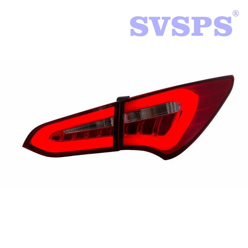 Coche de alta calidad estilo izquierda derecha parachoques trasero de la lámpara de la luz de freno para Hyundai Santa Fe IX45 2013, 2014, 2015, 2016, 2017