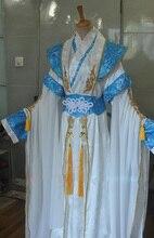 Lie Yun bleu blanc noir argent mâle femme Cosplay Costume Hanfu pour la Performance sur scène ou la photographie épée hommes Hanfu