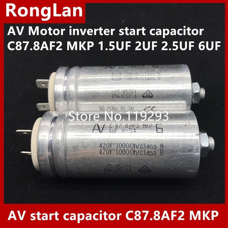 [BELLA] [New Original] Arcotronics AV Motor inverter start capacitor  C87.8AF2 MKP 1.5UF 2UF 2.5UF 6UF 5% 500v