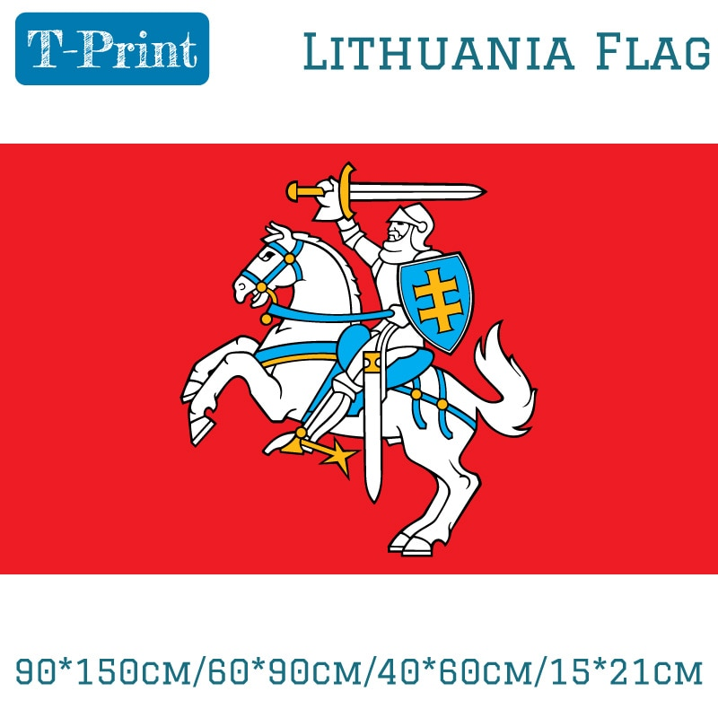 State Flag Of Lithuania Lithuanian Ensign Flag 3X5ft Polyester Banner Flying 150*90cm Custom Flag Outdoor