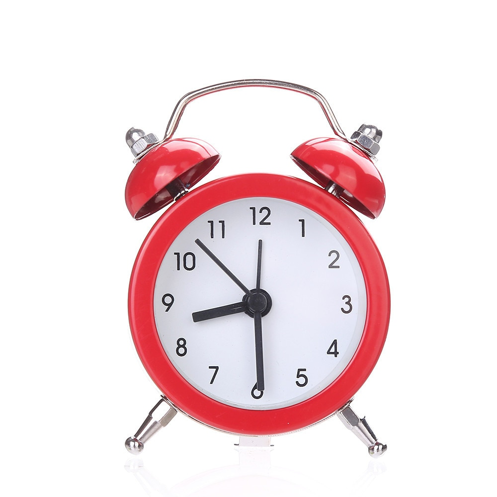 Reloj despertador para dormitorios pesados 2018, moderno reloj despertador de aleación silenciosa de Metal inoxidable con doble campana, envío directo June11