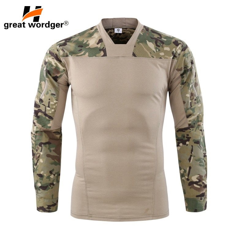 Фото - Мужская камуфляжная армейская футболка с длинным рукавом, армейская тактическая футболка с длинным рукавом футболка с длинным рукавом opium футболка с длинным рукавом