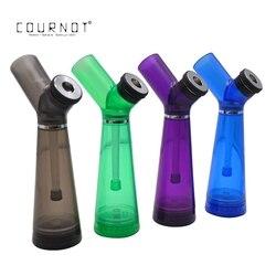 Cournot hookah shisha premium acrílico fumar tubulação de água com moedor 210mm plástico tubos de água acessórios ferramenta