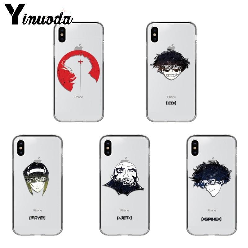 Yinuoda Cowboy Bebop personalizado foto funda de teléfono suave para iPhone 8 7 6 6S plus X Xs X Xr XsMax 5 5s SE 5c cubierta