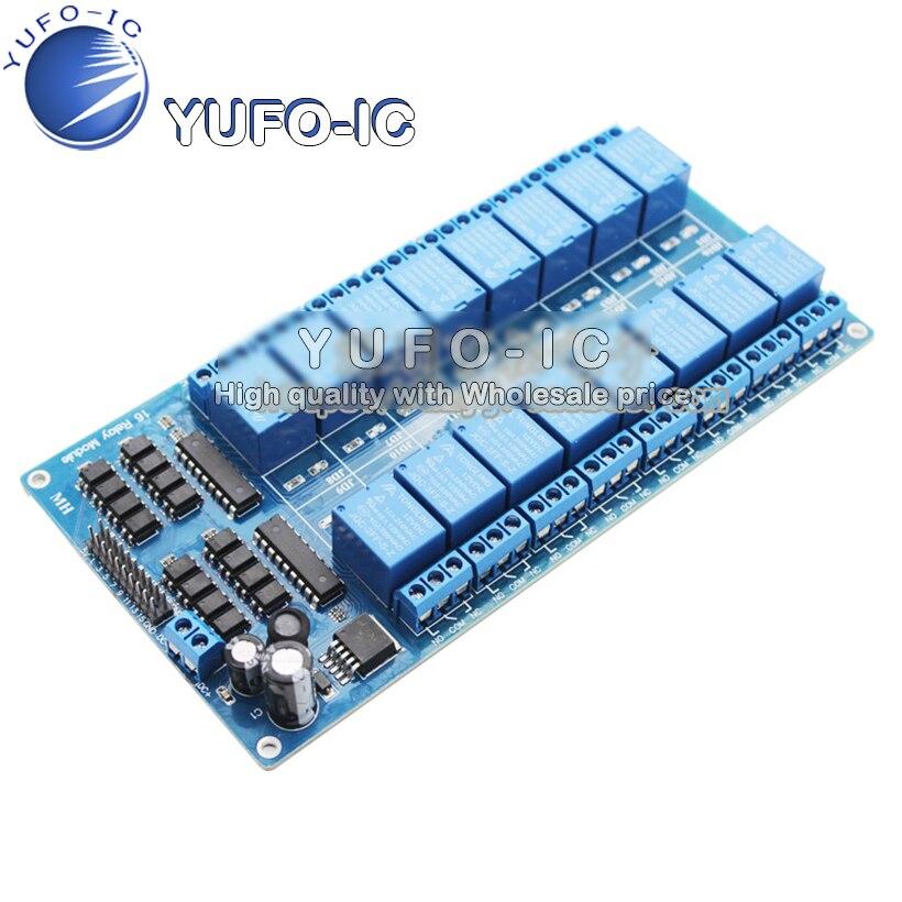 16 Canal 12V Módulo de relé de control con protección de optoacoplador con LM2576 fuente de alimentación 0,18-x