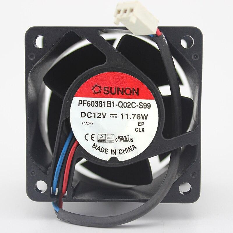 Marca nueva original PF60381B1-Q02C-S99 6038 de ventilador 12 V 11,76 W