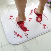 1PCS Water Absorption Bathroom Mat Toilet Non-slip Memory Foam Rug Soft Kitchen Door Floor Mat Carpet tapis de bain Bloody Footprint