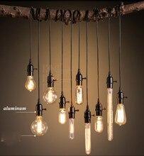 Retro Black Light LOFT Pendant Creative Restaurant Bar Light Bulb Single American Industrial Home Lighting Living Room Coffee