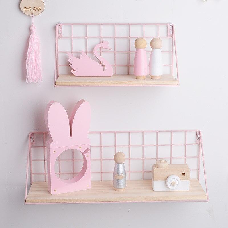 INS Girls-casier de rangement pour chambre   Étagère murale pour thème rose, porte-soleil mural, boîte de rangement murale décorative de la maison, étui déco murale M/L
