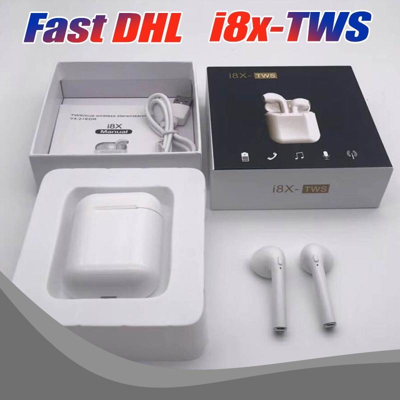 20PCS/Lot Wholesale i8x TWS Earbud Wireless earphone Mini V4.2 Stereo Bluetooth Earphones Twins for Smart Phones Free DHL