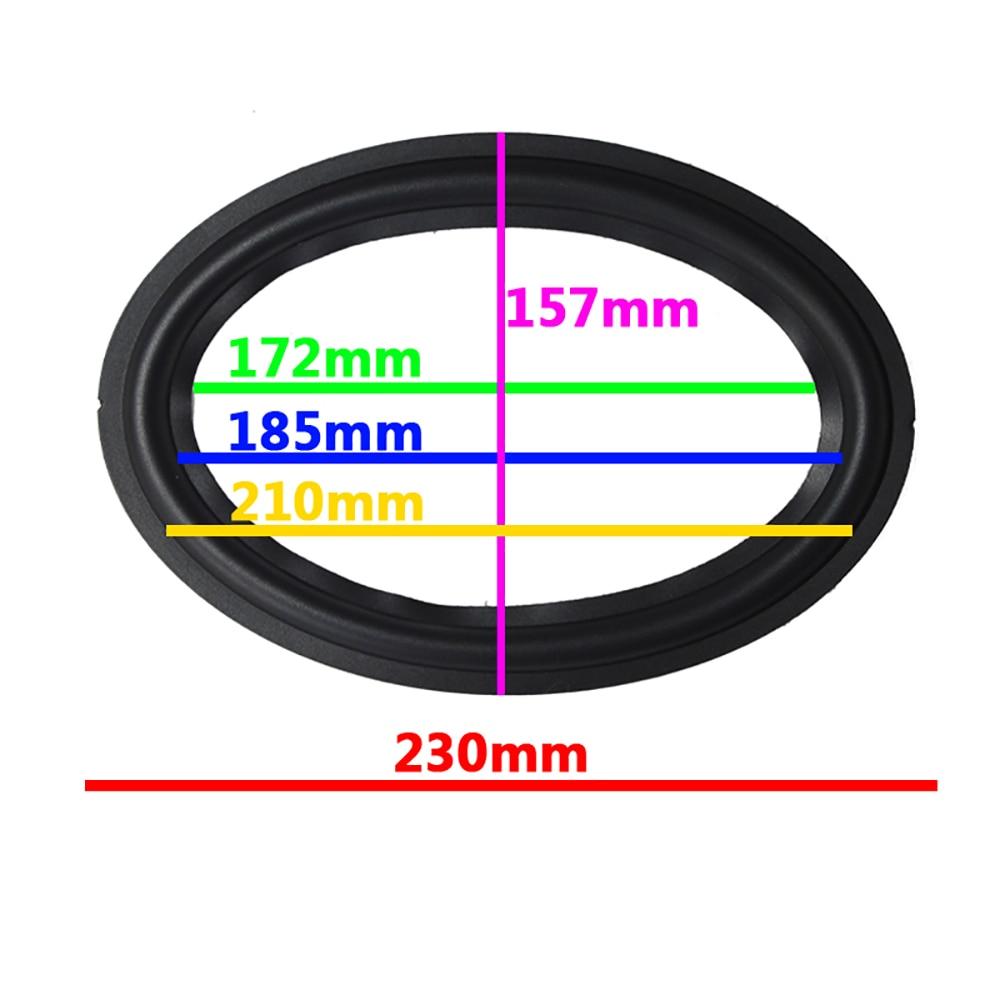 """Par de piezas reparables de Woofer de 6*9 pulgadas, 6x9 """", envoltura de goma para altavoz (157mm/185mm / 210mm/230mm)"""