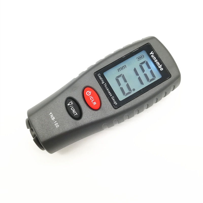 Digital mini medidor de espessura de revestimento medidor de espessura de pintura do carro medidor de espessura testador com luz de fundo YNB-100