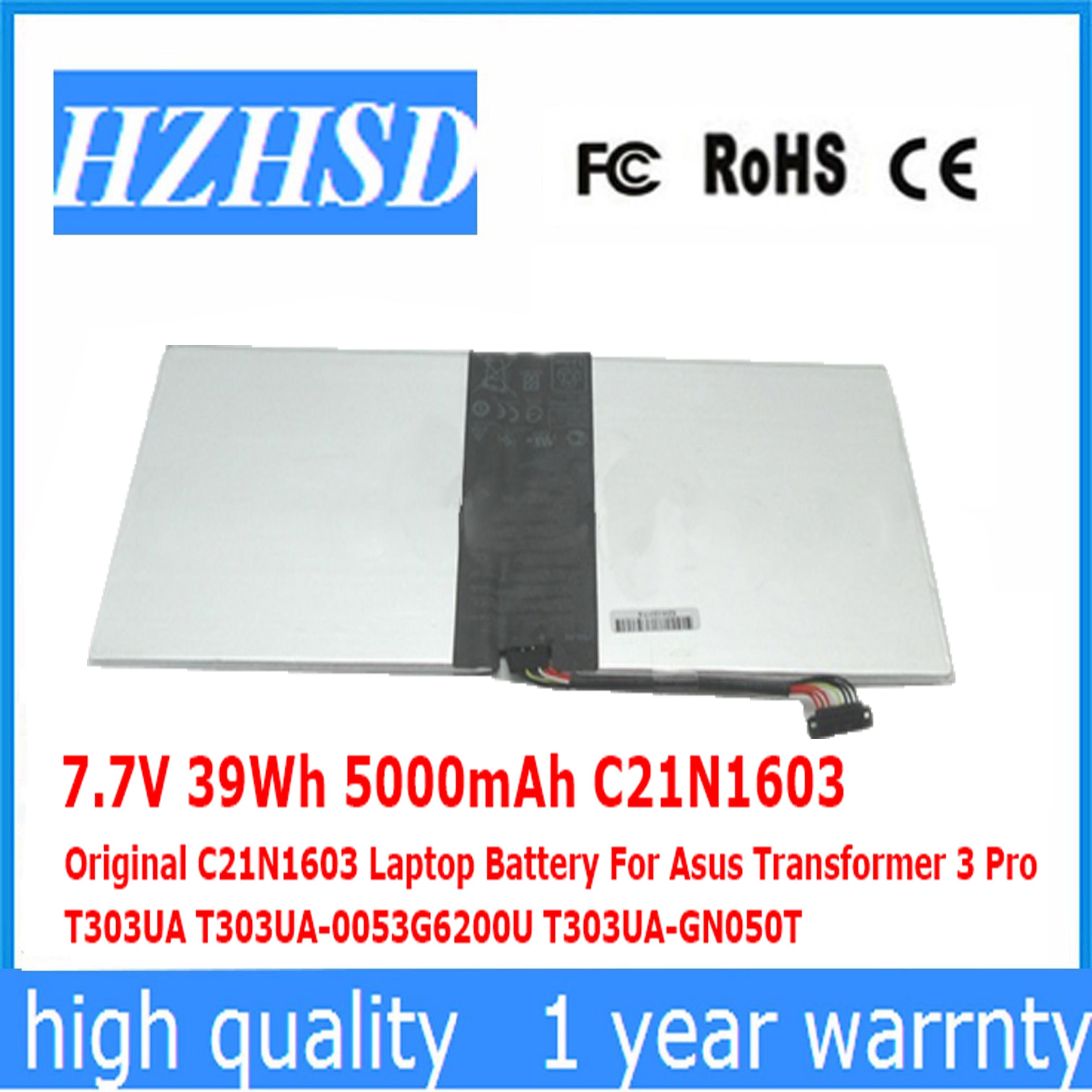7.7V 39Wh 5000mAh C21N1603 الأصلي C21N1603 بطارية كمبيوتر محمول ل Asus محول 3 برو T303UA T303UA-0053G6200U T303UA-GN050T
